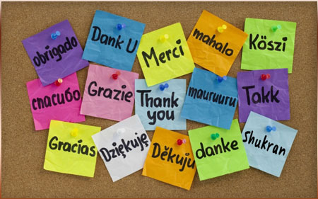 Thank you...in many languages!
